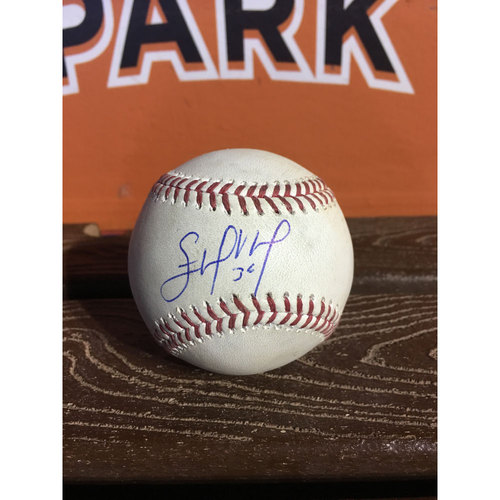 Photo of Edinson Volquez Autographed Game-Used Baseball (6/3/17)