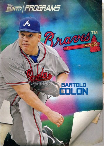 Photo of 2017 Topps Bunt Programs #PRBC Bartolo Colon