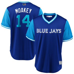 Toronto Blue Jays 2018 Players Weekend Justin Smoak Little League Replica Jersey by Majestic