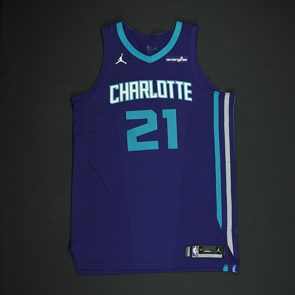 Treveon Graham - Charlotte Hornets - Game-Worn 'Statement' Jersey - 2017-18 Season
