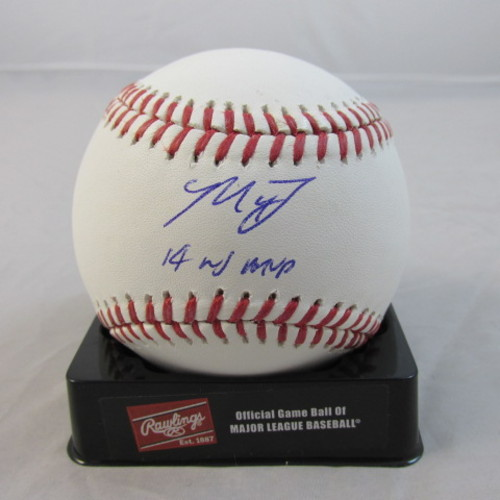 "Photo of Madison Bumgarner Autographed ""14 WS MVP"" Baseball"