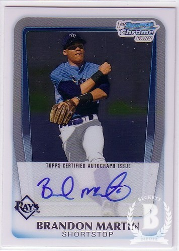 Photo of 2011 Bowman Chrome Draft Prospect Autographs #BM Brandon Martin
