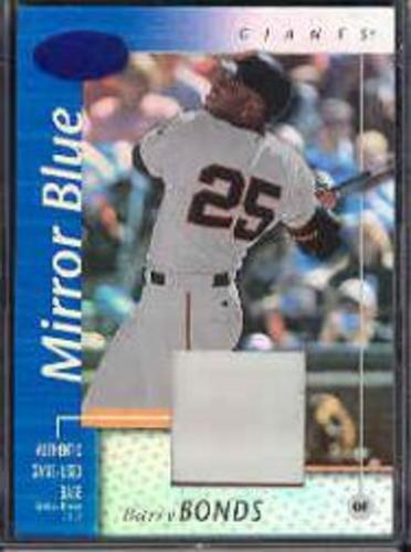 Photo of 2002 Leaf Certified Mirror Blue #146 Barry Bonds Base