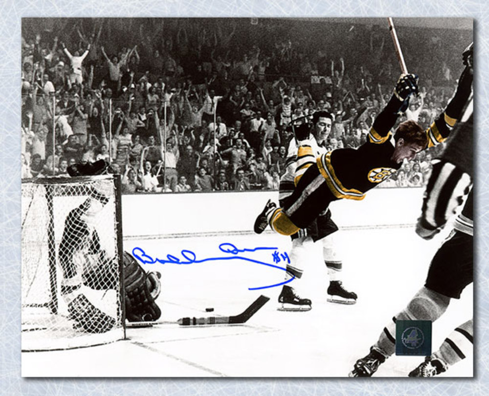 Bobby Orr Boston Bruins Signed Winning Goal Color Spotlight 16x20 Photo: GNR COA