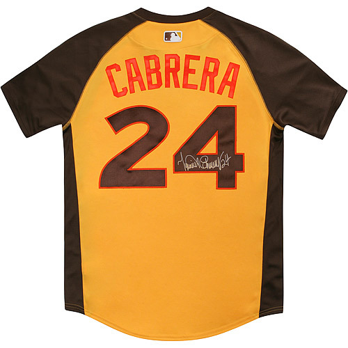 Photo of Miguel Cabrera 2016 Major League Baseball Workout Day/Home Run Derby Autographed Jersey