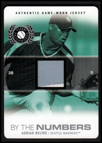 Photo of 2005 Fleer Patchworks By the Numbers Jersey Die Cut #AB Adrian Beltre