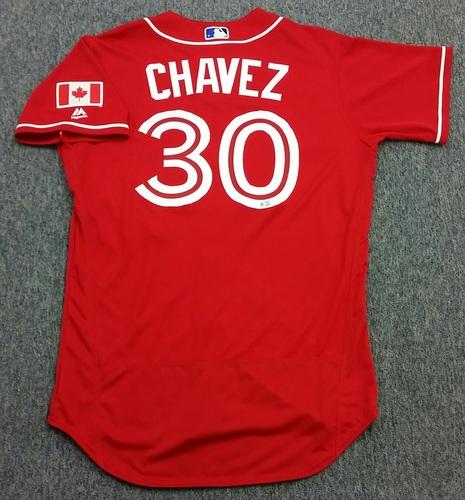 Photo of Authenticated Team Issued 2016 Canada Baseball Day Jersey - Jesse Chavez