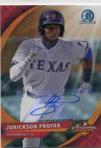 Photo of 2016 Bowman Chrome AFL Fall Stars Autographs #AFLJP Jurickson Profar 73/75
