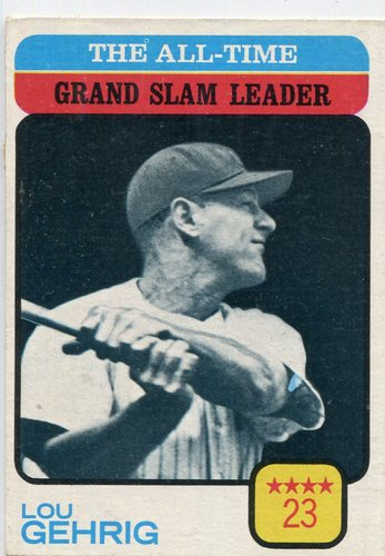 Photo of 1973 Topps #472 Lou Gehrig/All-Time Grand Slam Leader