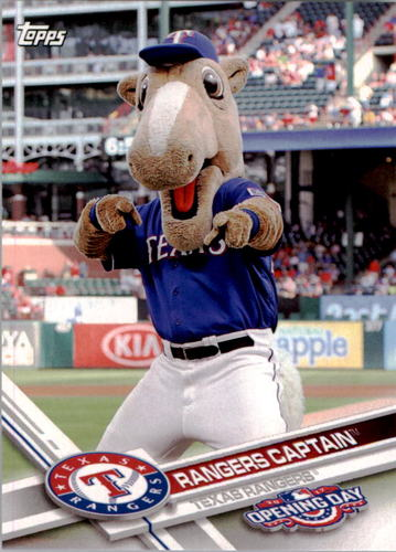 Photo of 2017 Topps Opening Day Mascots #M19 Rangers Captain