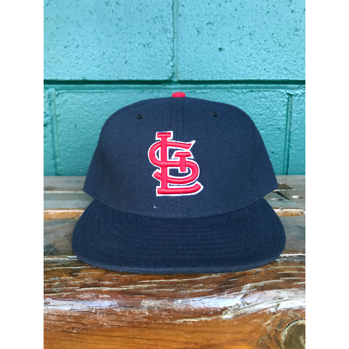 Photo of Cardinals Authentics: Seung-hwan Oh Issued Road Navy Cap 2016