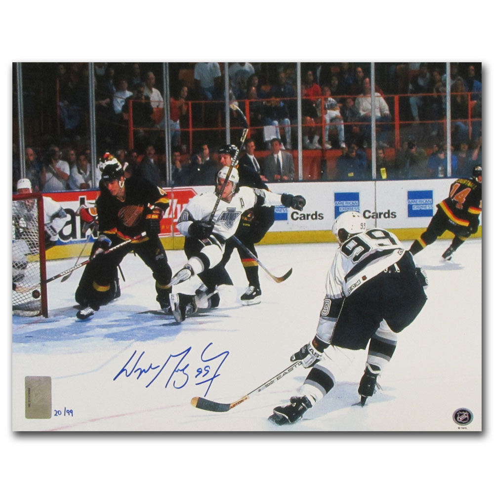 Wayne Gretzky Autographed Los Angeles Kings Limited-Edition 11X14 Photo - #20/99