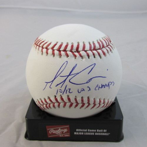 "Photo of Matt Cain Autographed ""10, 12 WS Champs"" Baseball"