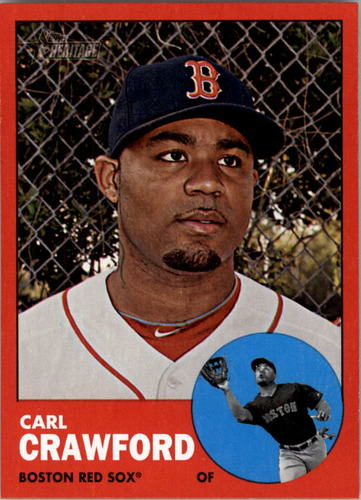 Photo of 2012 Topps Heritage #96B Carl Crawford TAR SP