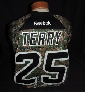 Carolina Hurricanes Authentic Military Appreciation Night Chris Terry #25 Jersey