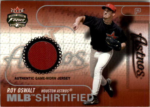 Photo of 2003 Fleer Focus JE MLB Shirtified Game Jersey #RO Roy Oswalt