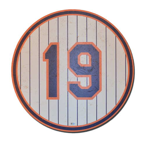Photo of Bobby Ojeda #19 - 1986 Ceremony Number Plate - Mets vs. Dodgers - 5/28/16