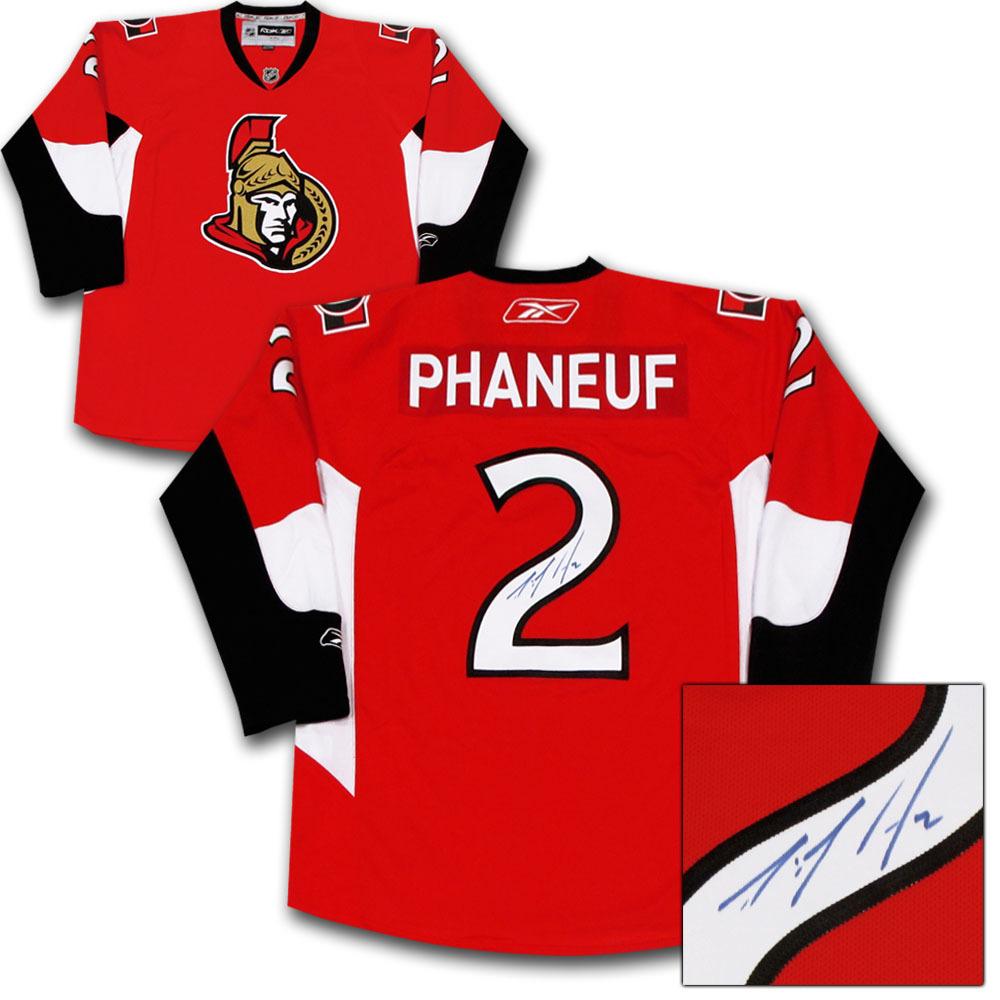Dion Phaneuf Autographed Ottawa Senators Jersey
