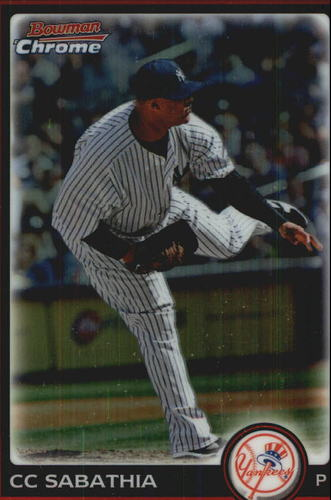 Photo of 2010 Bowman Chrome Refractors #158 CC Sabathia -- Yankees post-season