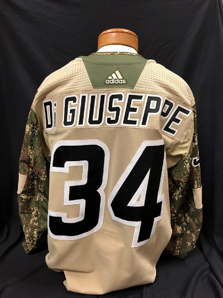 Phil Di Giuseppe #34 Autographed Military Appreciation Jersey