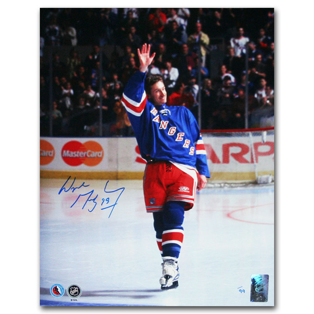 Wayne Gretzky Autographed New York Rangers Limited-Edition 11X14 Photo - #11/99