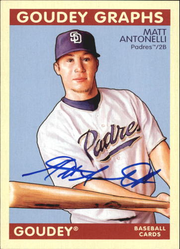 Photo of 2009 Upper Deck Goudey Autographs #GGMA Matt Antonelli