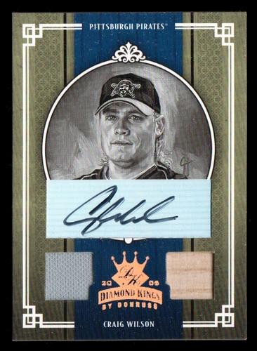 Photo of 2005 Diamond Kings Signature Materials Bronze B/W #178 Craig Wilson Bat-Jsy/100