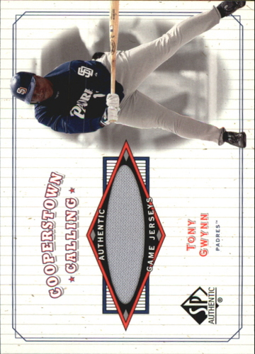 Photo of 2001 SP Authentic Cooperstown Calling Game Jersey #CCTG Tony Gwynn