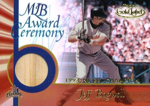 Photo of 2001 Topps Gold Label MLB Award Ceremony Relics #JB3 Jeff Bagwell RBI Bat