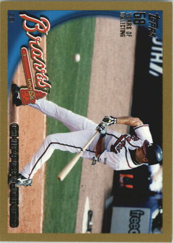 Photo of 2010 Topps Gold Border #652 Chipper Jones