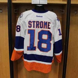 Ryan Strome - Game Worn Away Jersey - 2015-16 Season - New York Islanders