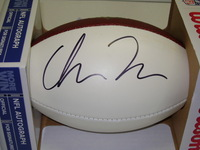 NFL - RAVENS CHRIS MOORE SIGNED PANEL BALL