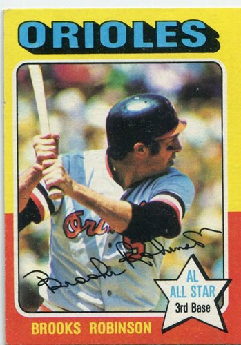 Photo of 1975 Topps #50 Brooks Robinson Hall of Famer