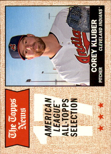 Photo of 2017 Topps Heritage #380 Corey Kluber TNAS