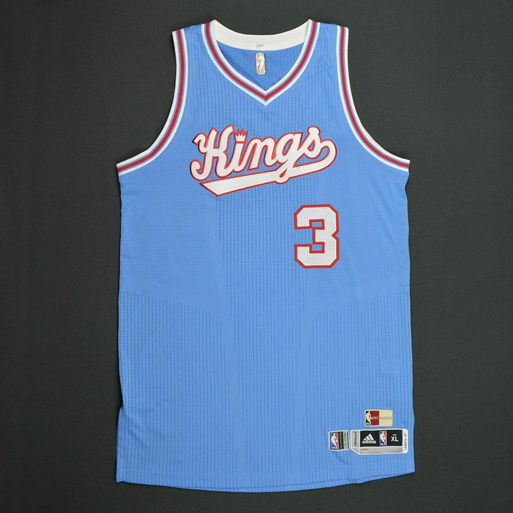 Skal Labissiere - Sacramento Kings - Game-Worn Blue '1985-86 Road Hardwood Classics' Jersey - 2016-17 Season