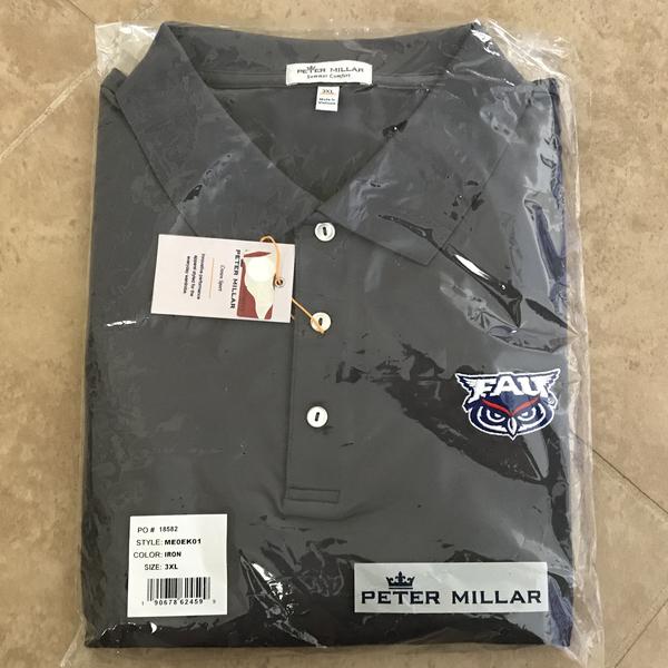 FAU Peter Millar Grey Polo (Men's M)