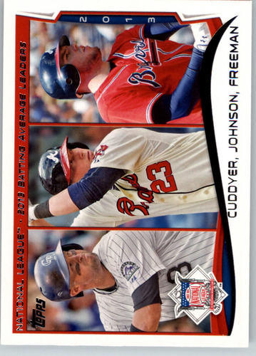 Photo of 2014 Topps #237 Mike Cuddyer/Chris Johnson/Freddie Freeman LL