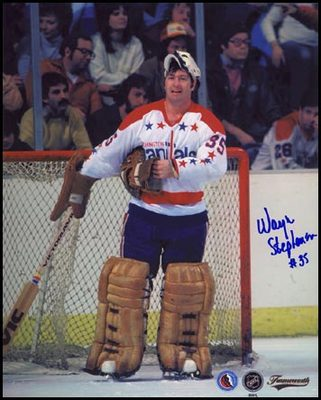 WAYNE STEPHENSON Washington Capitals SIGNED 8x10 Photo