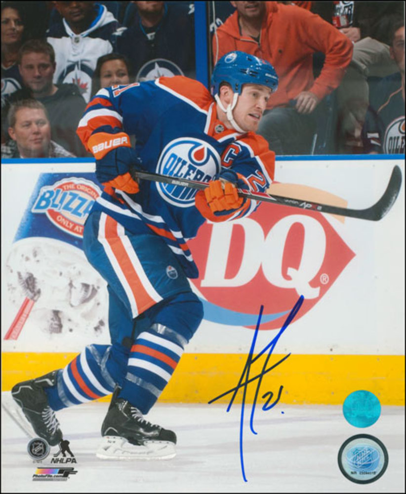 ANDREW FERENCE Autographed Edmonton Oilers 8x10 Captain Photo