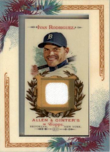 Photo of 2007 Topps Allen and Ginter Relics #IR Ivan Rodriguez J