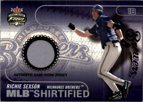 Photo of 2003 Fleer Focus JE MLB Shirtified Game Jersey #RS Richie Sexson