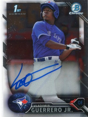 Photo of 2016 Bowman Chrome Prospect Autographs #CPAVG Vladimir Guerrero Jr.
