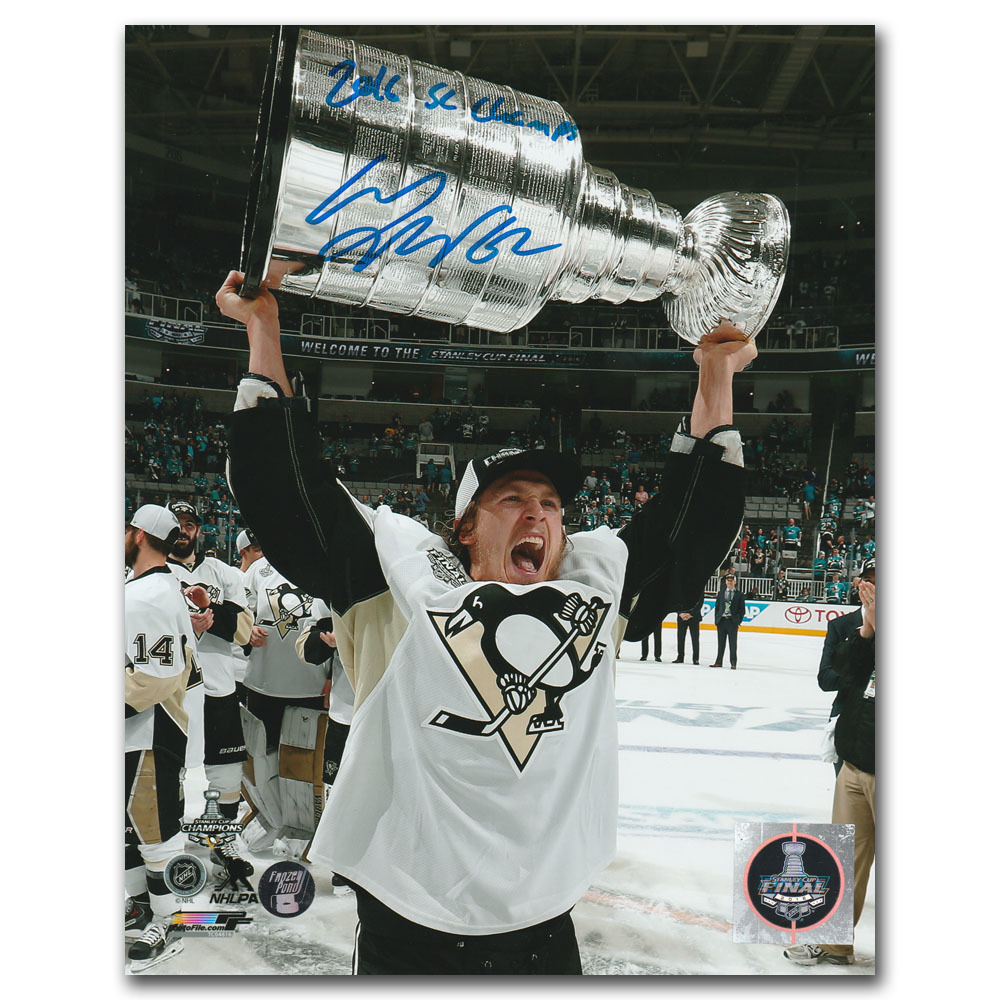 Carl Hagelin Autographed Pittsburgh Penguins 8X10 Photo w/2016 SC CHAMPS Inscription