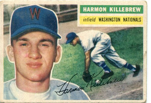 Photo of 1956 Topps #164 Harmon Killebrew -- Hall of Famer