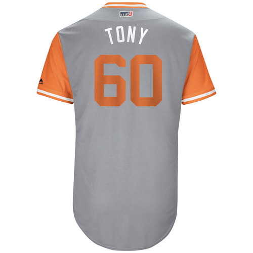 "Photo of Mychal ""Tony"" Givens Baltimore Orioles Game-Used Players Weekend Jersey"