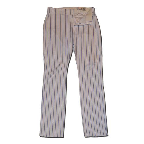 Photo of Lucas Duda #21 - Team Issued White Pinstripe Pants - 2017 Season