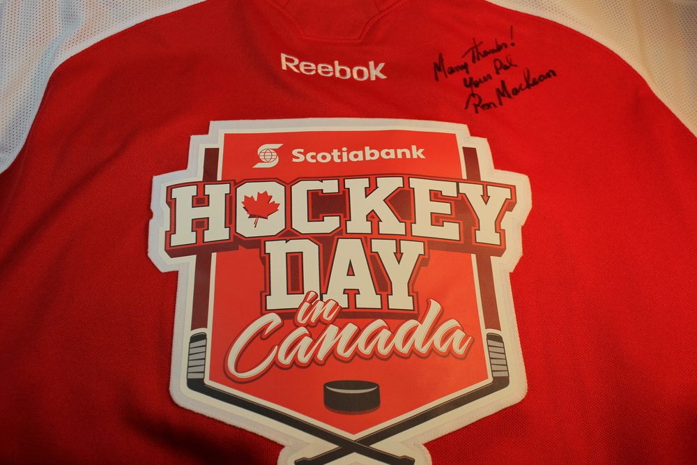 Ron MacLean Autographed Scotiabank Hockey Day in Canada Jersey
