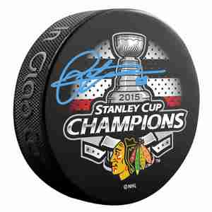 Patrick Kane - Signed Chicago Blackhawks 2015 Stanley Cup Champions Puck