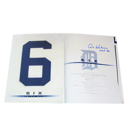 Photo of Detroit Tigers Al Kaline Autographed Book - Six: A Salute to Al Kaline