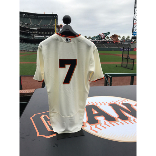 Photo of San Francisco Giants - Home Opening Day Jersey - Game Used - Aaron Hill #7
